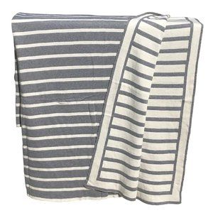 Gray Striped Throw